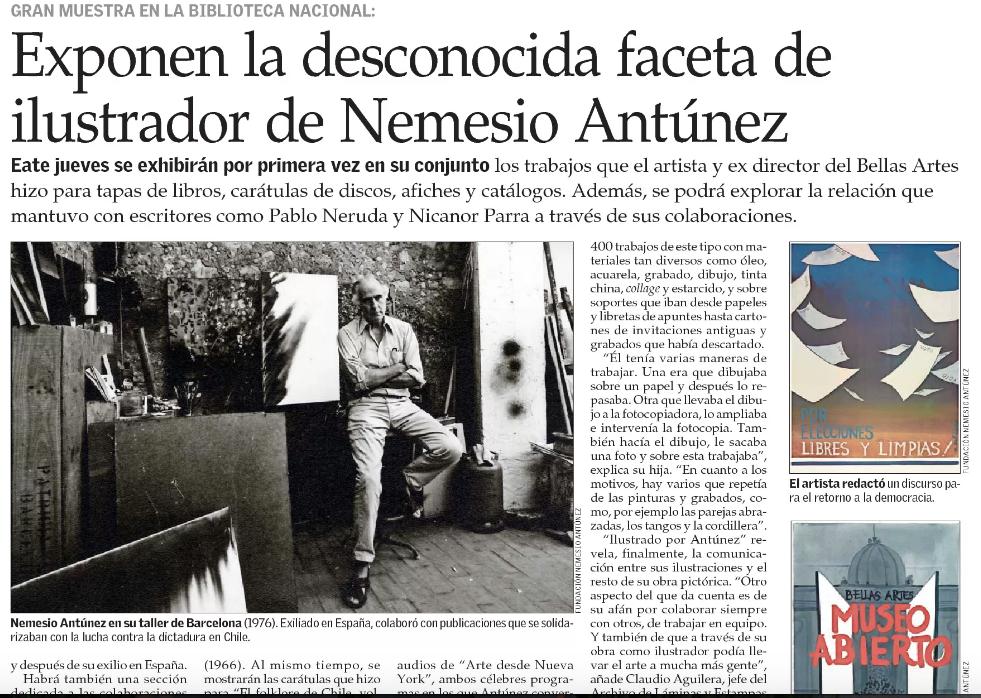 Exponen la desconocida faceta de ilustrador de Nemesio Antúnez