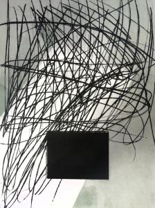 Luces en el negro Punta seca, carborundum 73x54i 100x70p