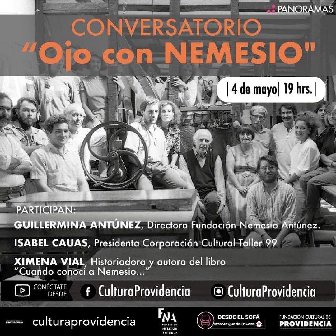 """""""Ojo con NEMESIO"""" Conversatorio en torno a Nemesio Antúnez al cumplirse 104 años de su natalicio"""