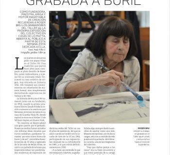 """ROSER GRABADA A BURIL"""